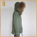 Großhandel OEM Service Real Jacke Frauen Winter Marke Waschbär Pelz Parka