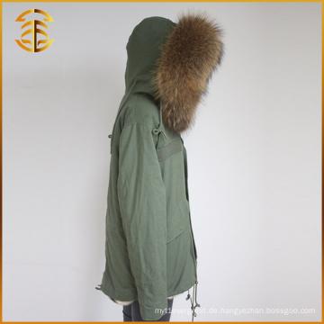 Frauen Winter Multi Farbe Real Raccoon Jacken Mantel Warm Fox Pelz Parka