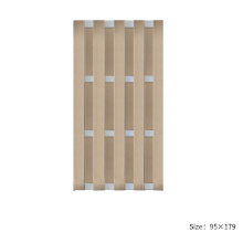 Aluminium WPC garden fence panel in new trendy and classic style fencing