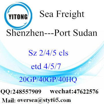 Shenzhen Port Sea Freight Shipping ke Port Sudan
