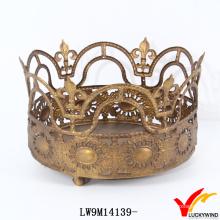 Античный Золотой Металл Корона Подсвечник