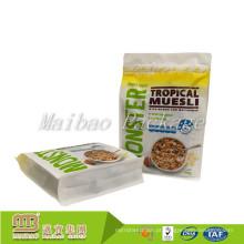 O costume imprimiu o fundo Doypack inferior quadrado plástico do reforço lateral do empacotamento de alimento Resealable do zíper