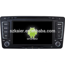 Android 4.4 Mirror-link TPMS DVR 1080P dual core multimedia central para Skoda Octavia con GPS / Bluetooth / TV / 3G