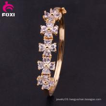 New Charm Heart Crystal CZ Bangle Fashion Gold Plated Bracelet