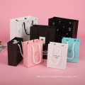 Fashion Wedding Souvenirs Paper Bag Recyclable Standard Size Art Paper Tote Bag Ribbon Handle With Bow-knot
