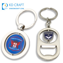 China manufacturer custom metal silver plated america california souvenir spinning keychain