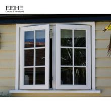 importieren Sie Aluminiumflügelfenster Aluminiumbronzefarbenfenster