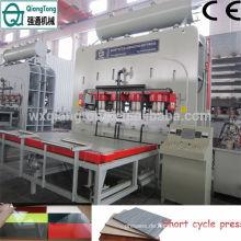 Furnier Sperrholz MDF Laminat Holz Hot Plate Press