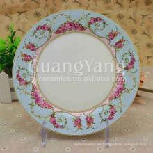 Diversas flores hermosas que imprimen la placa de encargo de la melamina de la porcelana