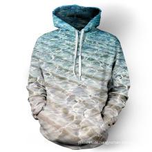 Winter 3D sublimiert Plain Pullover Hoodie