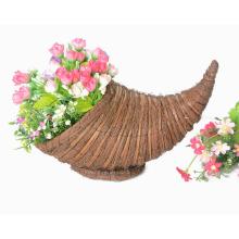 awn and broom leaf weaving cornucopia flower basket