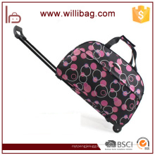 Customized Polyester Vintage Trolley Travel luggage bags cases