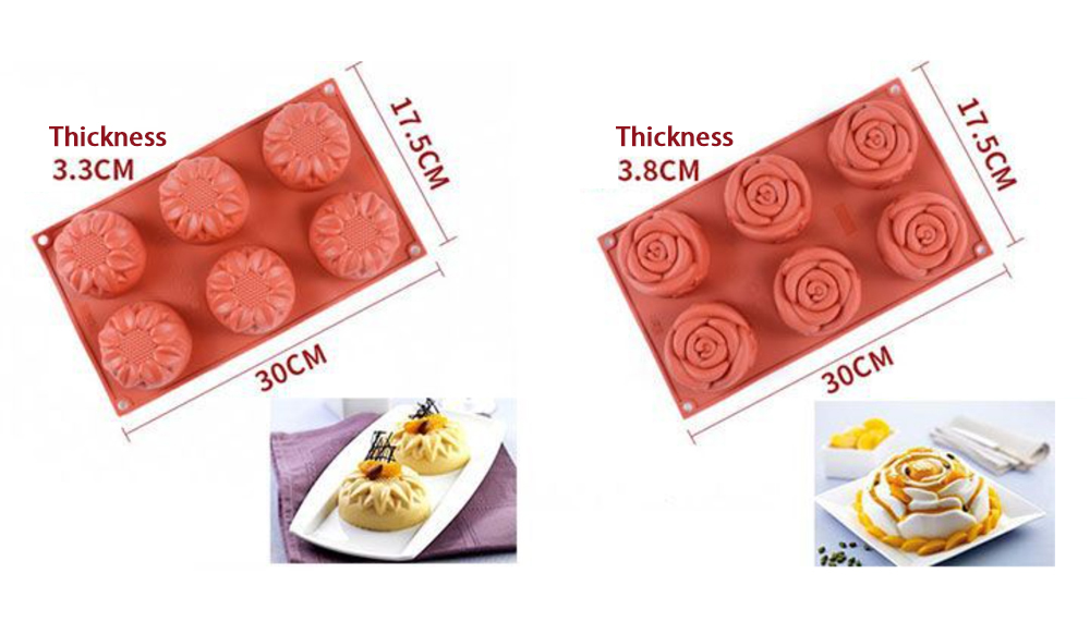 Flower Silicone Mousse Cake Mold (8)