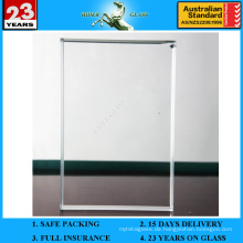 3-19mm Ultra Extra Clear Low Eisen Float Glas Blatt