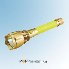 Lanterna elétrica recarregável do CREE Xm-L U2 LED do poder superior (POPPAS- F31)