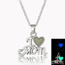 New model I love Mom Design Necklace Fashion Teen Girls Big Fashion Necklace