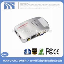 VGA vers AV RCA TV Moniteur S-Vidéo Convertisseur de signal Adaptateur Switch Box PC Laptop