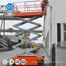 Arbeits-Plattform-Aufzug mit vier Rädern, Anhänger-Angebrachte hydraulische Arbeitsplattform