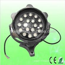 AC100-240V imperméable à l'eau IP65 RGB 12w 18w projecteur led extérieur