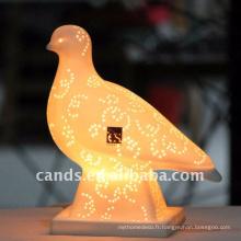 Lampe de table en céramique forme animale mignon pour Decor