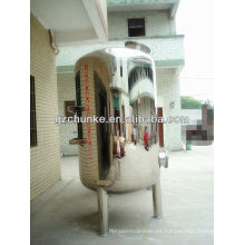 Tanque de almacenamiento de agua caliente de acero inoxidable para la planta de purificación de agua