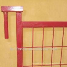Les panneaux de clôture temporaires de Canada Lattice mesurent 6 x 10ft