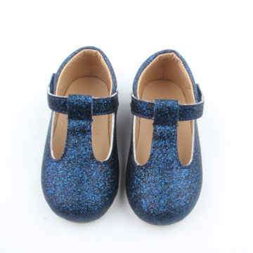 Blue Glitter Bling Bling Baby Shoes Shoes