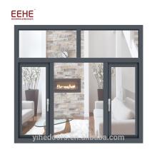 Furacão avaliado janelas de alumínio de madeira folheada janela de informação residencial