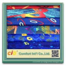 Novo estilo de moda carro de têxteis de produtos auto colorido impresso do velo tecido