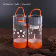 ПЭТ прозрачные цилиндрические трубки с печатью (пластиковая круглая коробка)