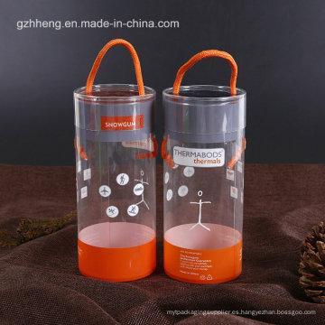 PET tubos de cilindro transparente con la impresión (caja de plástico redondo)
