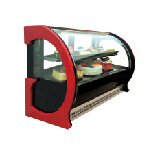 900mm komersial display kue kaca counter showcase