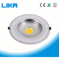 18W runde COB Glas LED Panel Panel Light