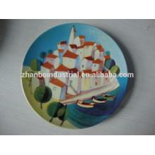 Atacado de Natal promocional personalizado porcelana placa decorativa com impressão de design