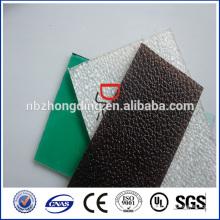 Feuille givrée en polycarbonate solide homologué de la catégorie A SGS
