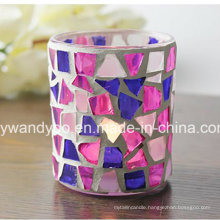 Unique Mosaic Glass Candle Holder