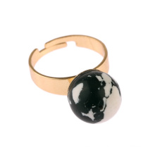Персонализированных элегантный бирюзового кольца ювелирные