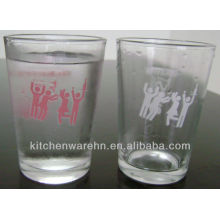promotional color changing glass made in China/orange juice drink glass cup