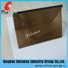Vidrio reflectante de bronce dorado de 4 mm con certificado de ce