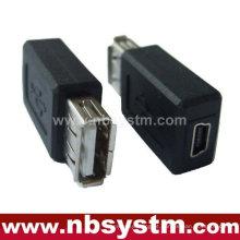 Adaptador USB Um macho para mini fêmea 5pin
