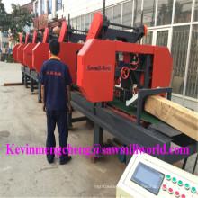 La cortadora de madera automática del CNC 6 cabezas vio horizontal de la venda