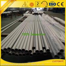 Tubo redondo da extrusão de alumínio anodizada ISO 9001 do sopro de areia