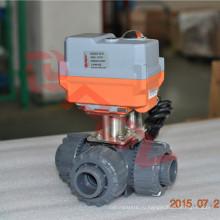 интеллектуальное переключение штраф небольшой 3 способ шариковый клапан ПВХ 230 В переменного тока