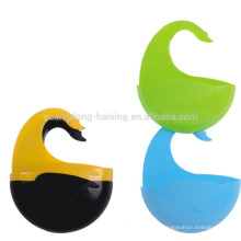 wholesales colorful wall hanging plastic hanging basket with hook