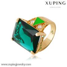 13719 Xuping anillos chapados en oro con piedra grande