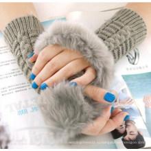 Леди мода теплые меховые перчатки без пальцев (MU2604)