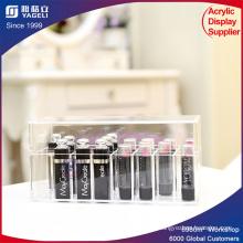 Caixa de titânio acrílico para batom para exibição cosmética