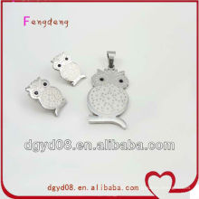 Conjunto de jóias de casamento de moda