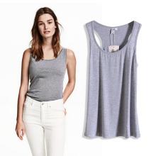 En gros à la mode femmes coton polyester T-shirts gilet pour l'été