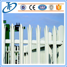 Clôture à palissade revêtu de PVC